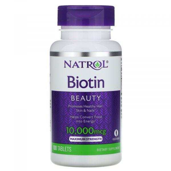 Vien uong Natrol Biotin 10.000 mcg