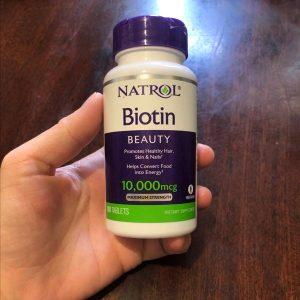 Vien uong Natrol Biotin 10.000 mcg4